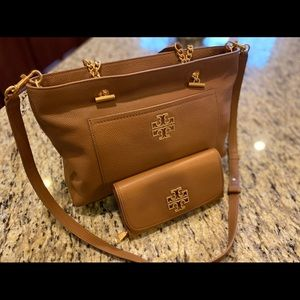 Tory Burch britten satchel & envelope wallet